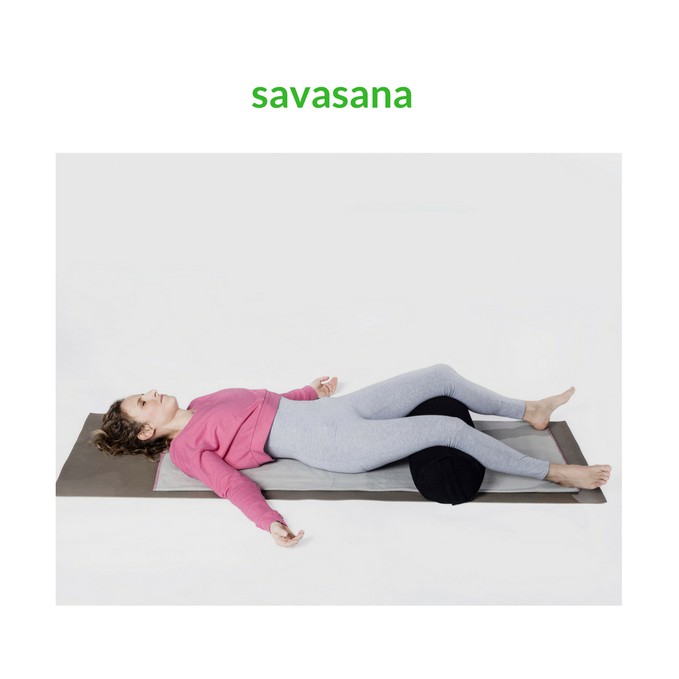 yin yoga position savasana
